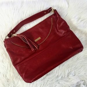 Onna Ehrlich Red Leather Hobo Bag